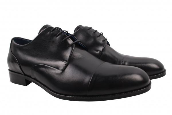 Туфлі Fabio Conti натуральна шкіра, колір чорний
