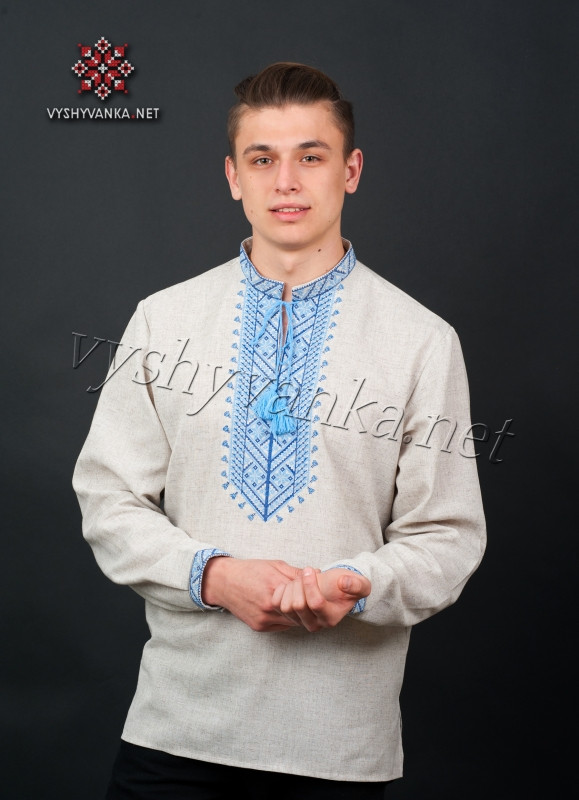 Мужская вышитая сорочка 2077