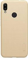 Чехол-накладка Nillkin Super Frosted Shield Xiaomi Redmi Note 7 Gold #I/S
