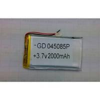 Аккумулятор литий-полимерный 045085P 3.7V 2000mAh