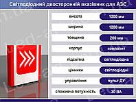 Световой рекламный указатель светодиодный въезд-выезд 1200 х 1200 мм