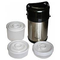 Термос пищевой Con Brio 2,0 л (3 контейнера+ложка+вилка) 322 CB