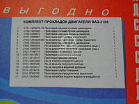 Ремкомплект двигателя ВАЗ 2105 (17 наименований) (пр-во Украина) (арт. 2105-1003020)