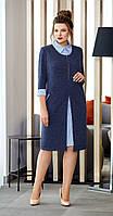 Платье AGATTI-3232В белорусский трикотаж, темно-синий, 60