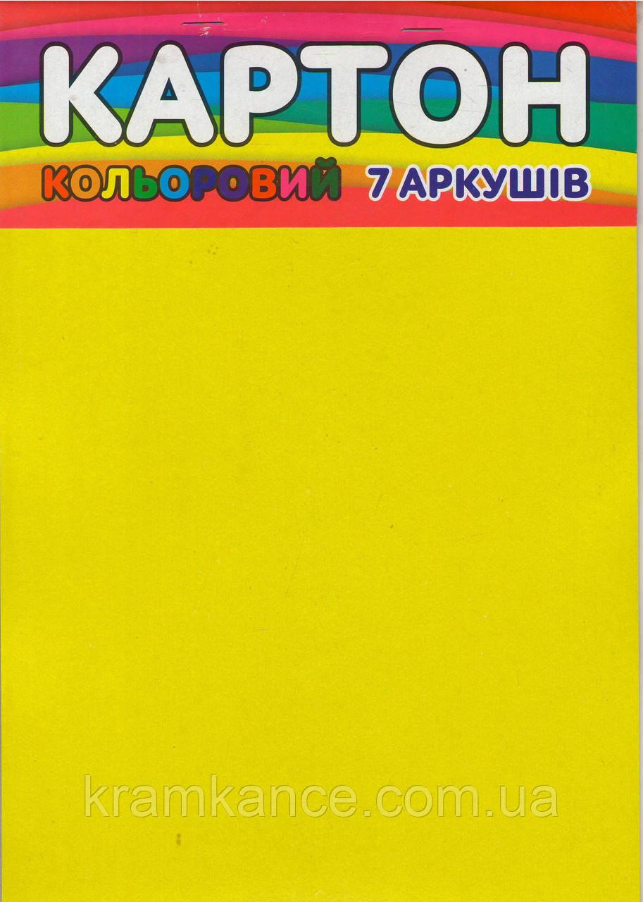 Картон цветной А4  ФОП Зибнев
