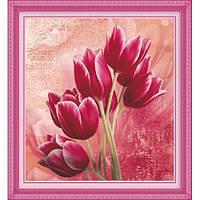 """""""Красные тюльпаны любви"""" Набор для рисования стразами"""