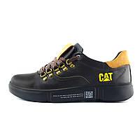 Мужские кожаные кроссовки CAT Chocolate Trend (реплика)