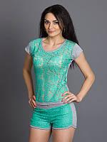 Стильный женский комплект футболка и шорты в расцветках, фото 1