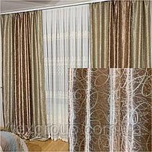 Готовые шторы Перевёртыш №389