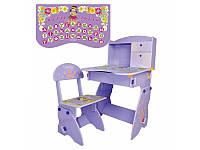 Детская регулируемая стол-парта со стульчиком W 070