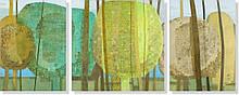 Репродукция модульной картины триптих «Лесная мозаика»  60 х 150 см