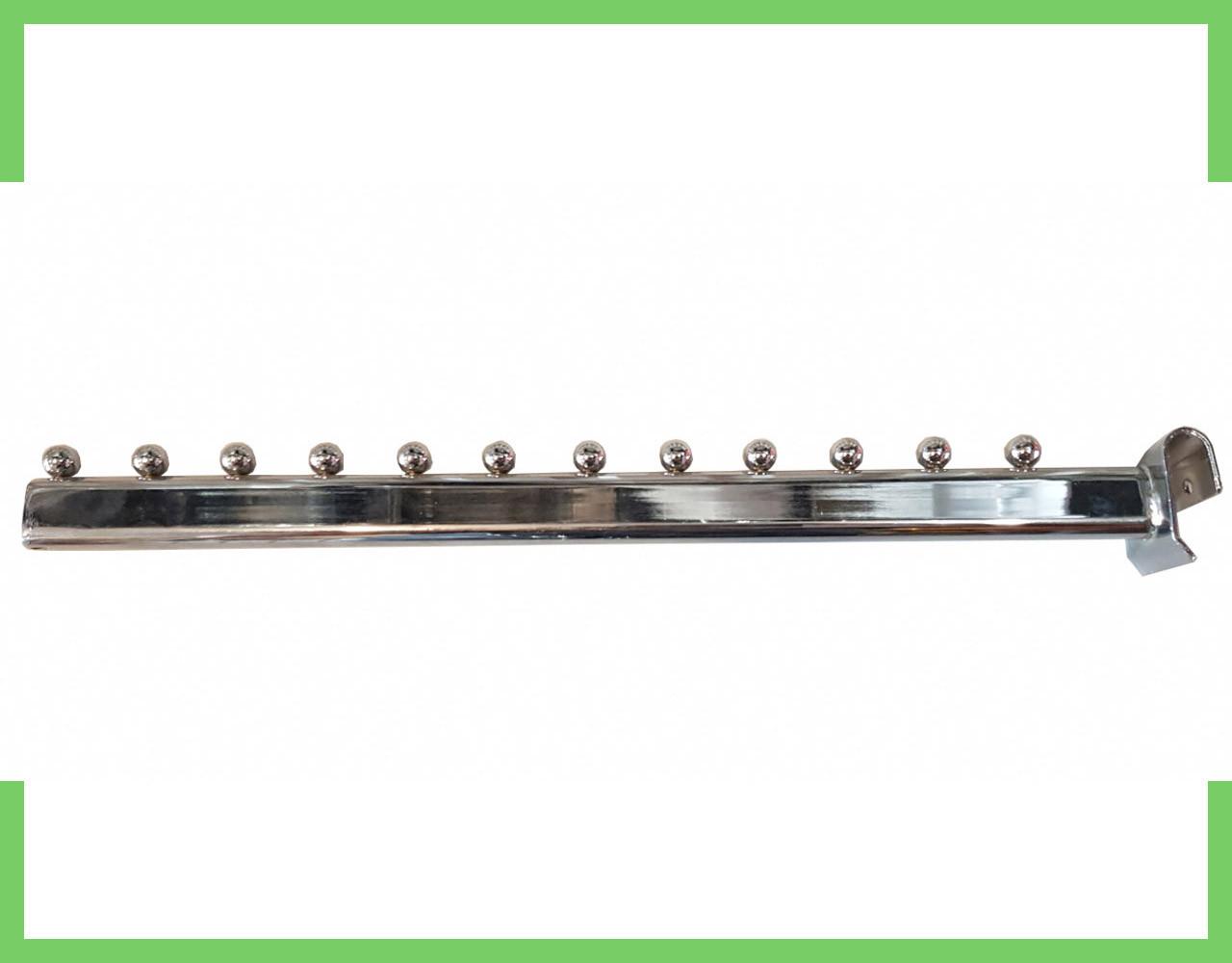 Кронштейн (Флейта) на перемычку, 12 шариков, 45см, хром