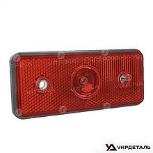 Фонарь задний габаритный со световозвращателем красный без лампы 124х69х51   ФГС-113 (VTR)