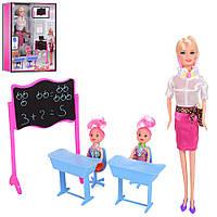 Лялька 68088 донька, шкільна дошка, парта, стілець, кор., 23-32,5-5,5 см.
