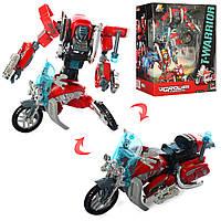 Трансформер J8016A робот+мотоцикл, кор., 30,5-25-11 см.
