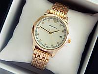 Кварцевые наручные часы Emporio Armani золотого цвета, стразы на метках, отображение даты, фото 1