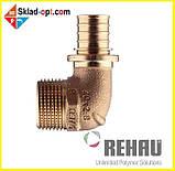 Коліно Rehau RX Ø25 x 3/4 з зовнішньою різьбою. 366091-001, фото 2