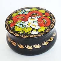 Украинские сувениры. Шкатулка деревянная расписная. Поле ромашек