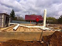 Теплоизоляция трубопроводов ПЕНОПОЛИУРИТАНОМ (100 мм)