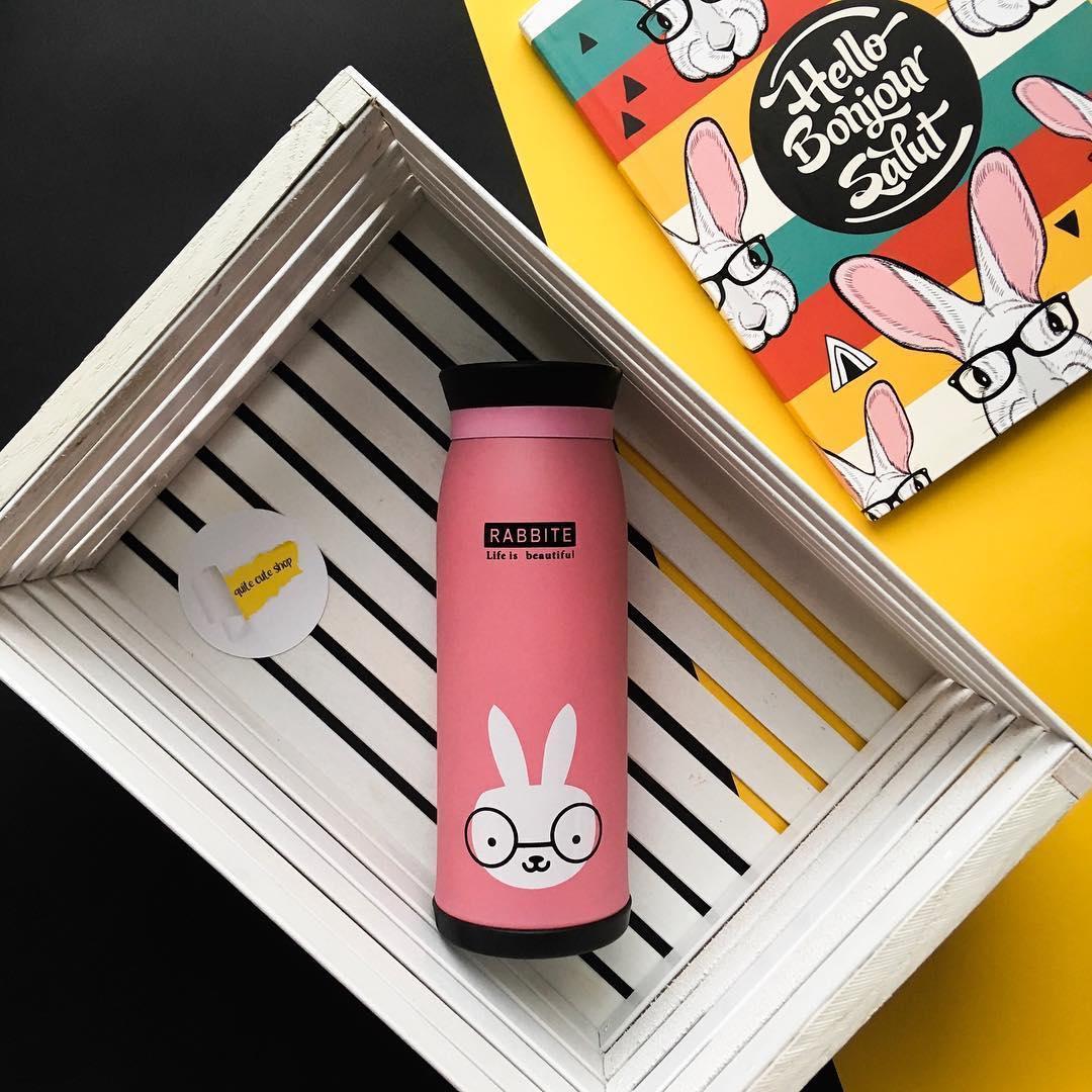 Бутылочка-термос с рисунком 0,5 л (кролик)
