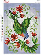 Вышивка бисером Зелена птиця №147