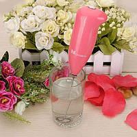 Взбиватель миксер для пенки (розовый), фото 1