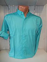 Сорочка чоловіча, рукав трансформер, однотонна, стрейч 002\ купити сорочку