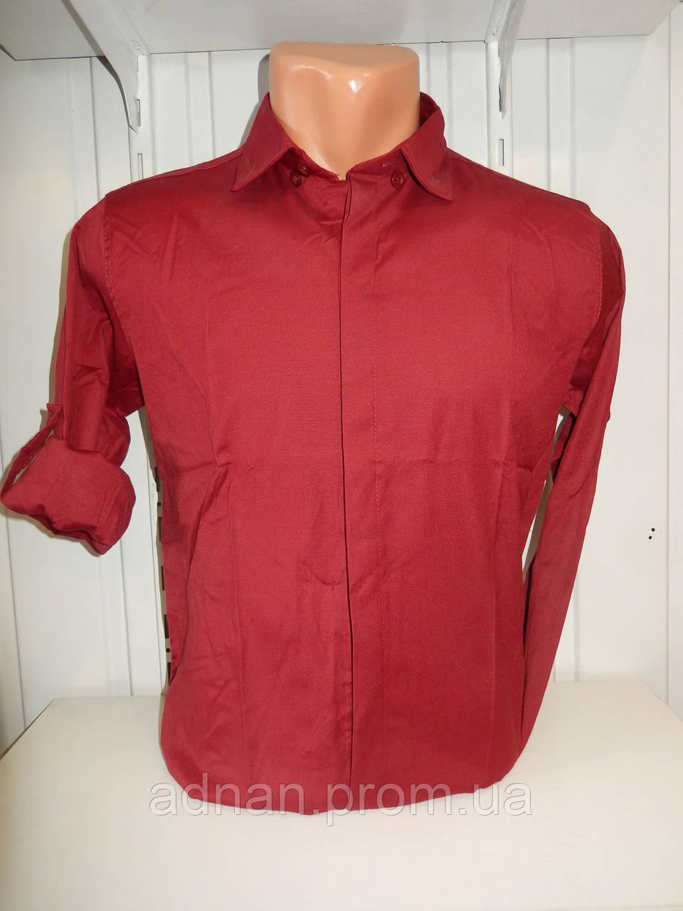 Рубашка мужская, рукав трансформер, однотонная, стрейч 003\ купить рубашку