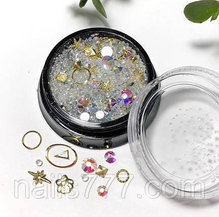 Декор для дизайну нігтів перли мікс, фото 2