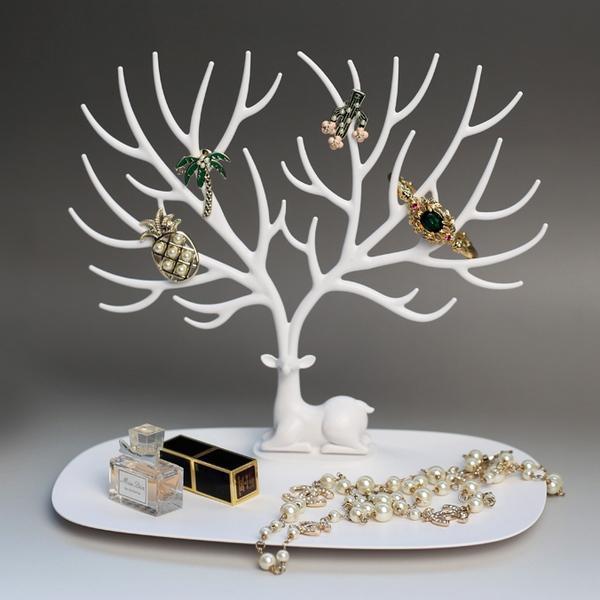 Оригинальная подставка для украшений в виде оленя белого цвета My Little Deer Tray