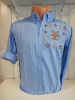 Сорочка чоловіча, рукав трансформер, візерунок, стрейч 006\ купити сорочку