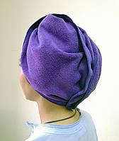 Рушник - чалма для сушіння волосся (мікрофібра фіолетова)