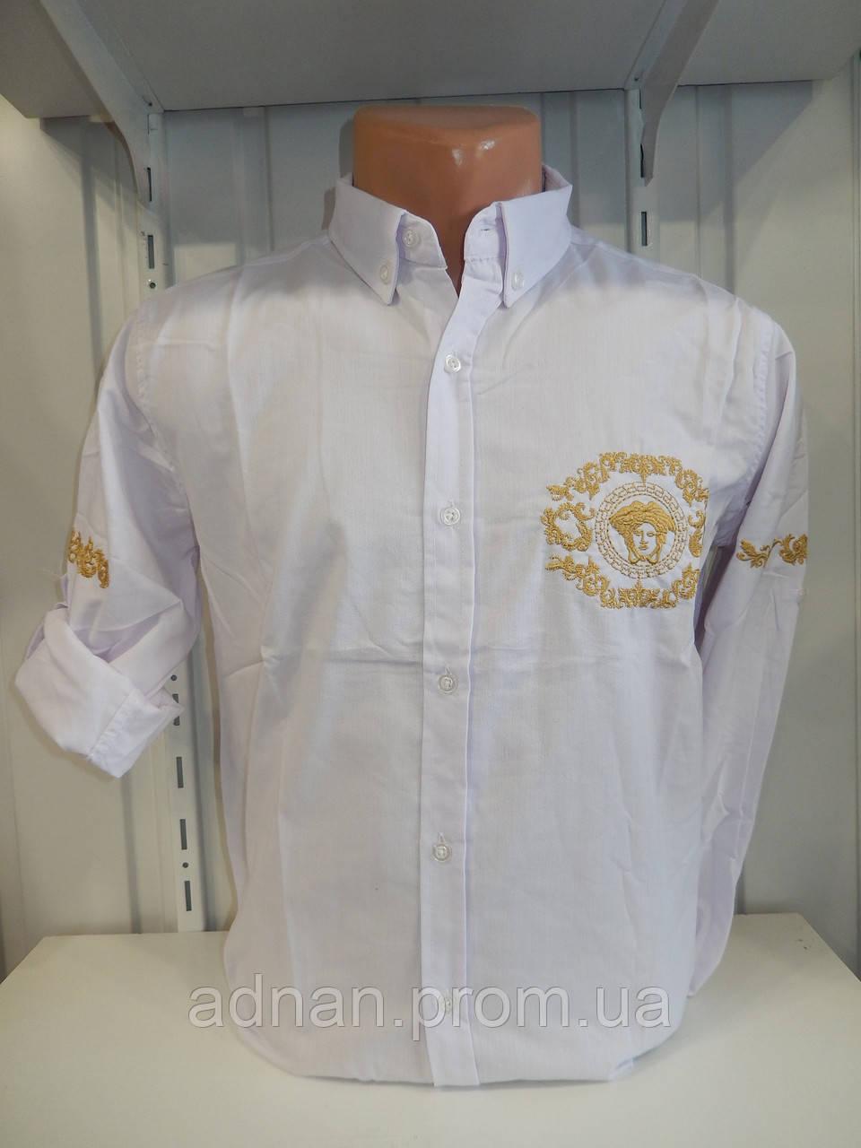 Рубашка мужская, рукав трансформер, узор, стрейч 009\ купить рубашку
