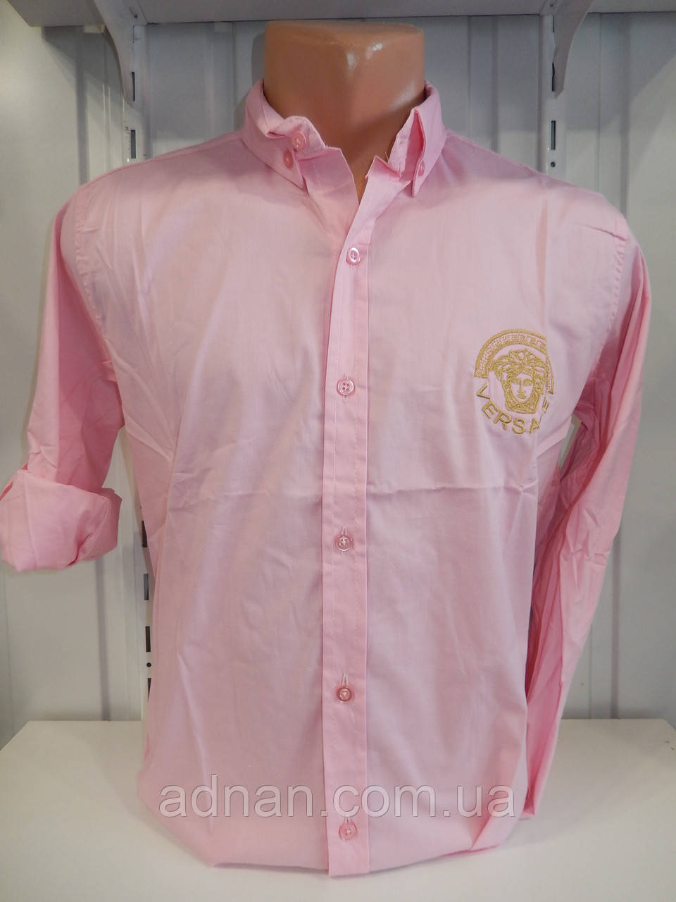 Рубашка мужская, рукав трансформер, узор, стрейч 010\ купить рубашку