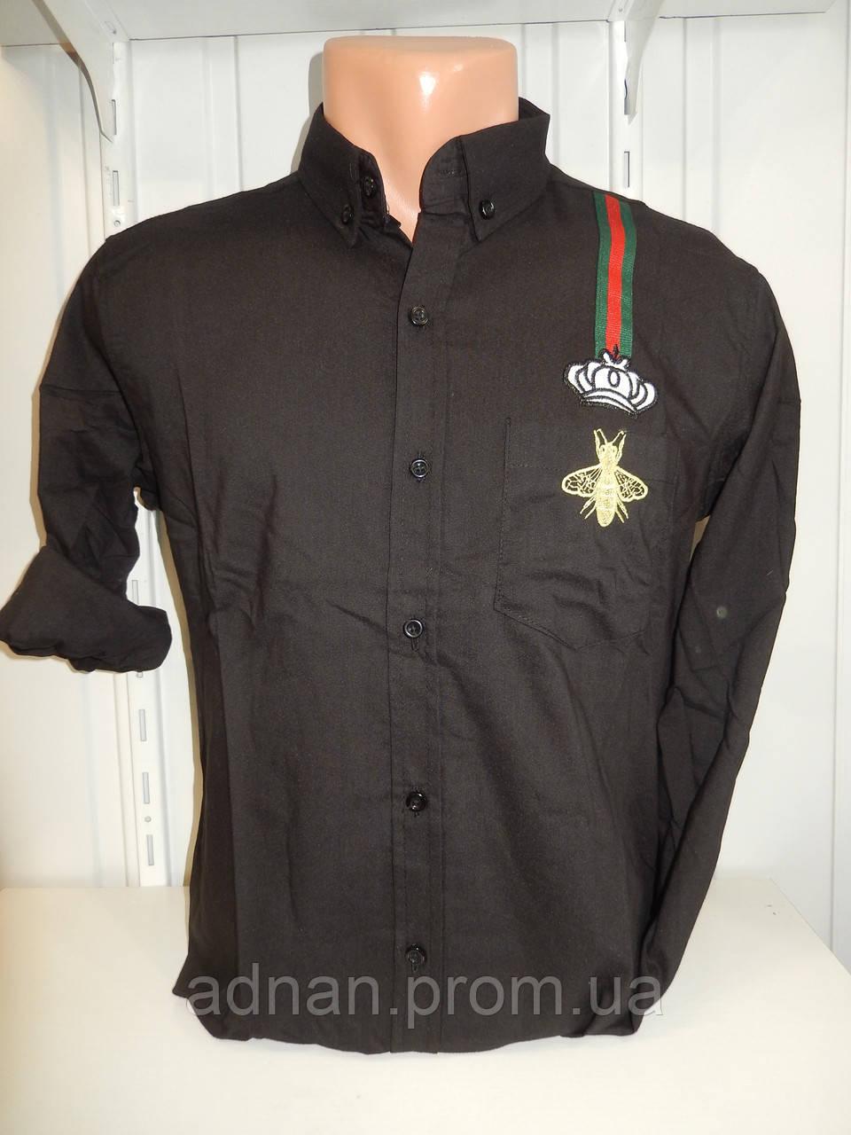 Рубашка мужская, рукав трансформер, узор, стрейч 016\ купить рубашку