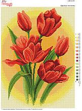 Вышивка бисером Червоні тюльпани №151