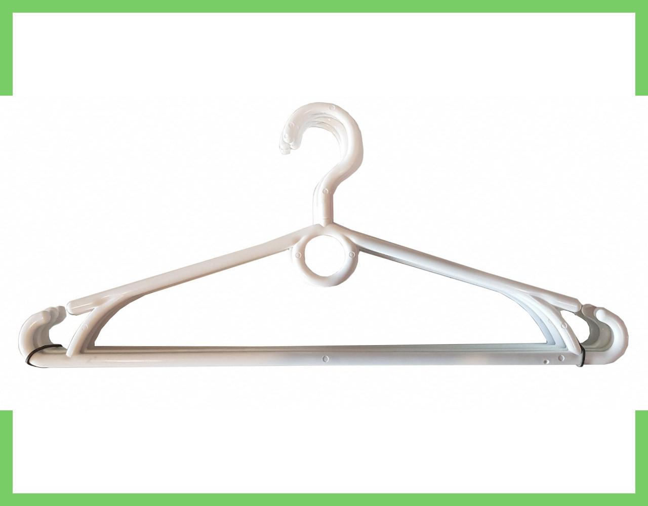 Вешалка плечики пластмассовые для одежды Польша 40 см (Белая)