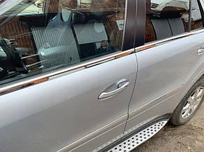 Наружная окантовка стёкол Mercedes ML W164 (4 шт.)