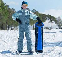 Детский сноуборд с рулем (синий)