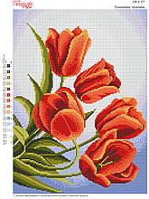 Вышивка бисером Вогняні тюльпани №157