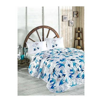 Покрывало детское 160х220 с наволочкой на кровать, диван Птицы, фото 2