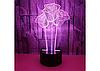 3D Светильник 3 розы, фото 8