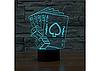 3D Светильник  POKER, фото 5