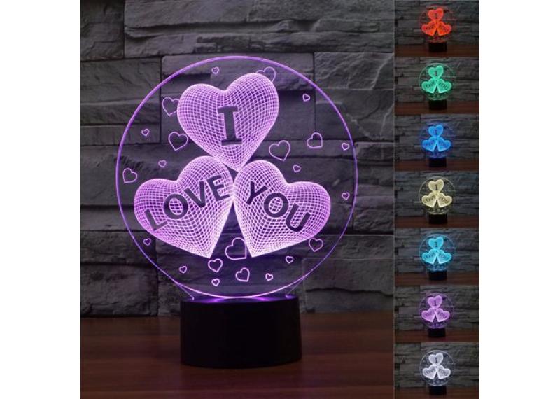 3D Светильник I LOVE YOU