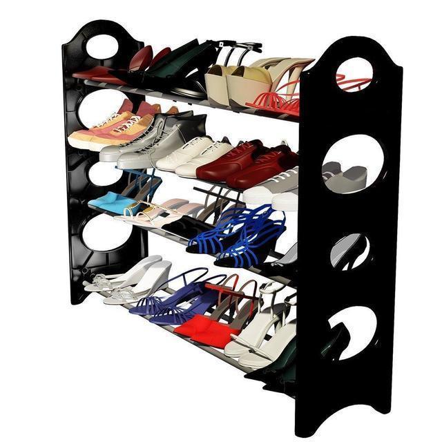 Полка органайзер для взуття на 12 пар Stackable Shoe Rack