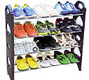 Полка органайзер для взуття на 12 пар Stackable Shoe Rack, фото 4