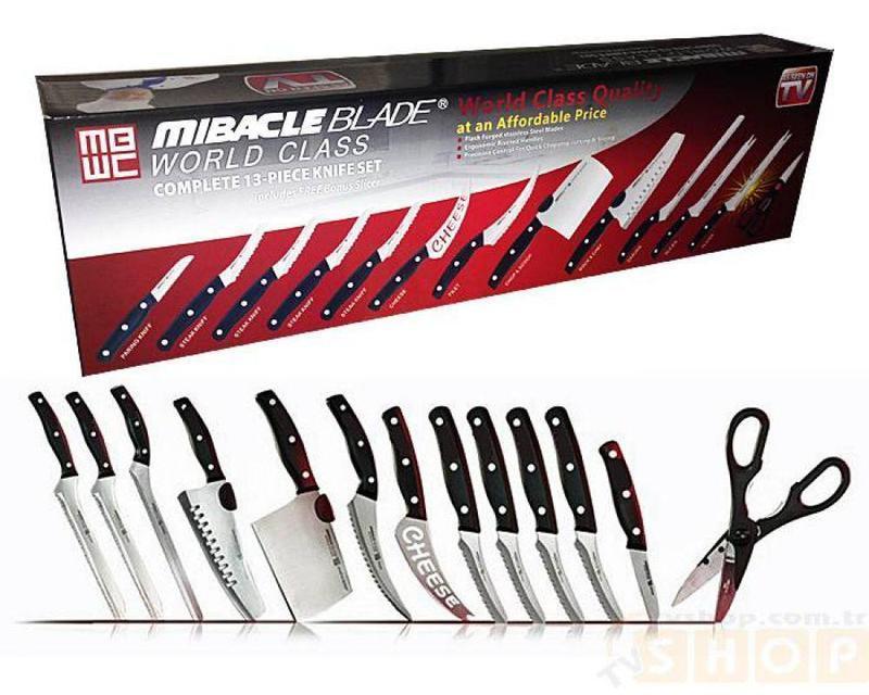 Набір кухонних ножів   Набір кухонних ножів Mibacle Blade 13 в 1 (Репліка)