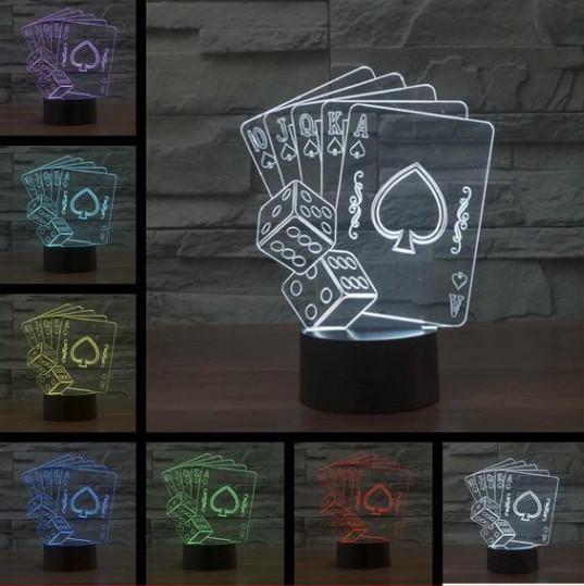 3D Светильник  POKER