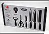 Набор кухонных ножей из нержавеющей стали в составе 6 предметов Non-stick, фото 4
