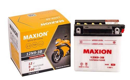 Мото аккумулятор MOTO 12N 9-3B MAXION(12V, 9A), фото 2
